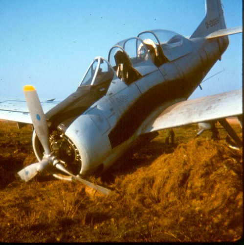 Warbird picture - T-28 Crash at Pakse AFB - Warbird crash