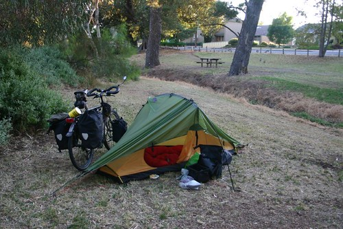 My camp in a city park in Kapunda.