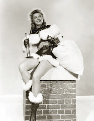 Vera-Ellen, the Santa Claus pinup, c1955 (carbonated) Tags: santa christmas xmas ladies chimney vintage pinup santasuit holidaypinup