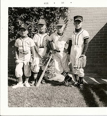 American Boys (zimmuh) Tags: usa kids america baseball brothers scan airforce brats heropose vietnamera oldprint august69