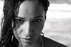lili (robincerutti) Tags: portrait woman black cute beach girl beautiful happy see grande movement eyes friend waves dominican chica dr tan playa bikini tall thin lili robincerutti