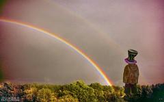 Looking for the Pile of Gold! :) (papillon666) Tags: sky sun holland rain photoshop rainbow model experiment son papillon666 morrison soe zaanstreek blueribbonwinner nikoncoolpix5600 dubbelrainbow