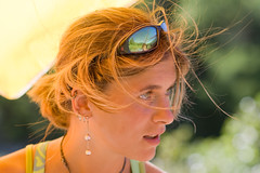 Ritratto estivo [Summer portrait] (ecatoncheires) Tags: summer girl sunglasses hair estate earring pearl perla ragazza capelli occhialidasole orecchini orecchino ecatoncheires