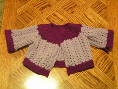 Little Girl Purple Sweater