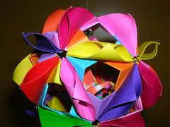 Arabesque (kusudama) Tags: spring origami arabesque tsuru kusudama