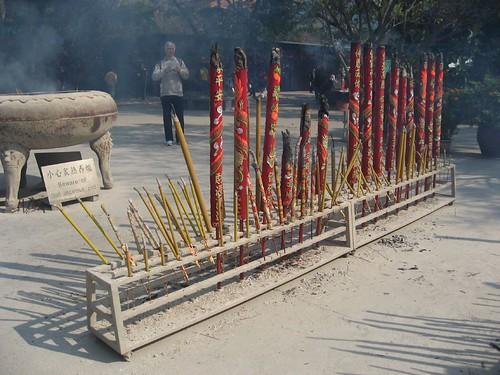 Gigantic incense sticks