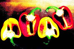 strange_red_yellow_pepper (seppi_hofer) Tags: colors strange vegetables pepper experimental effect