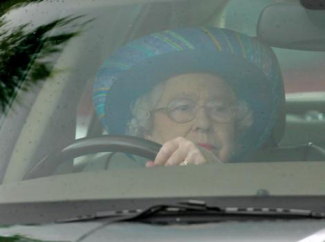 The Queen in her Jaguar, soon to be Tata