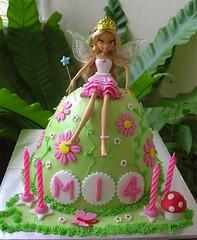 Fairy Princess Cake (specialcakes/tracey) Tags: birthday pink flowers cake club flora doll dress princess fairy fondant winx
