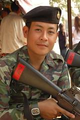 Thai Soldier (bertrudestein) Tags: travel thailand soldier asia southeastasia military chiangrai burmeseborder