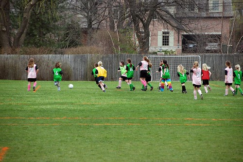 girls and boys play ayso soccer in separate leagues in age groups ranging