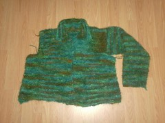 Garter Stitch Jacket  - Sleeve 1 Complete