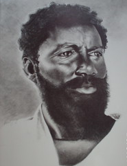 Bearded Man (shackamaxonbaby) Tags: art portraits faces negro beards drawings artists africanamerican afroamerican blacks draw dibujo desenhos graphite disegno dessins mustaches africans dibujoalapiz africandiaspora pencildrawings  tegninger afroamericano dessinateur  disegnoamatita  retratoalapiz