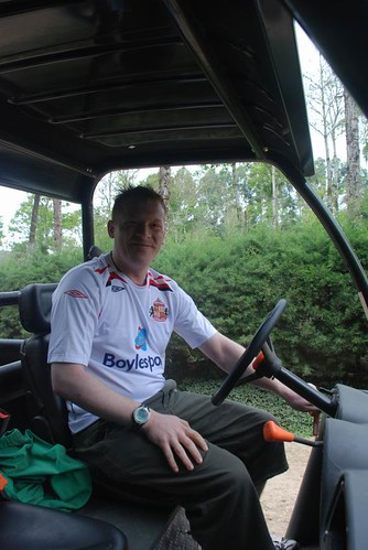 STEVE DRIVING GOLF CAR.JPG
