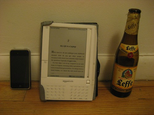 kindle iphone and beer