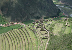 Ruins from Above (icelight) Tags: peru inca stone buildings ruins terraces andes sacredvalley foundations