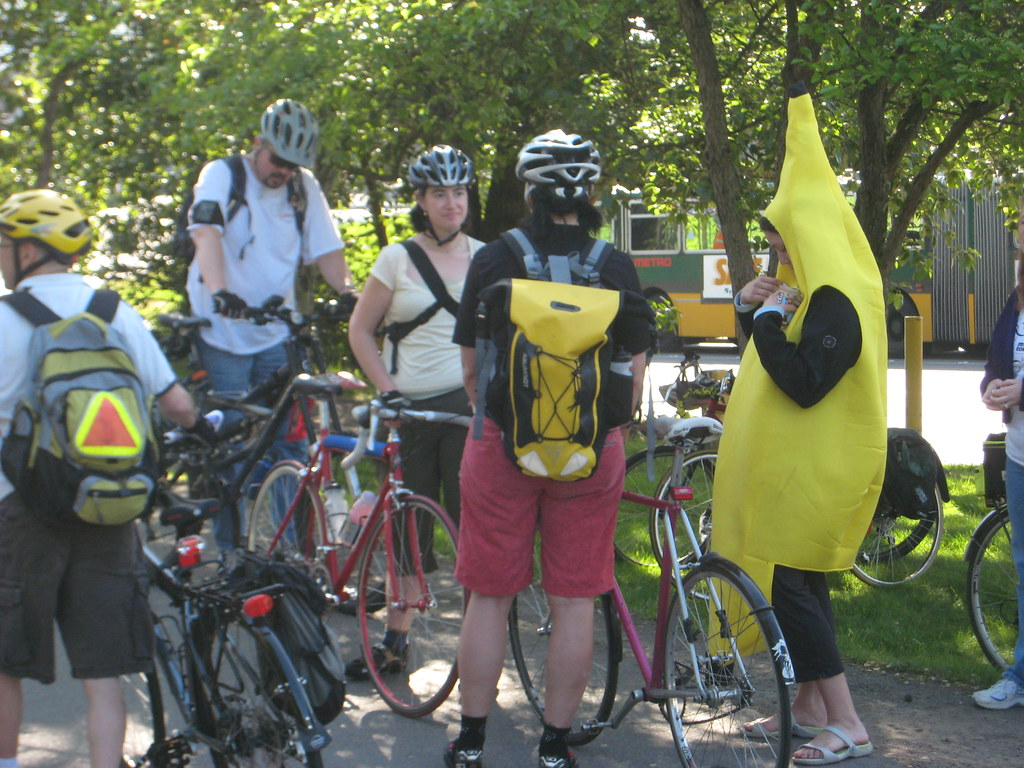 A Banana Seen on Bike to Work Day