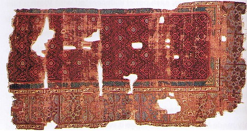 Konya carpet fragment found at mosque, 14th c, Istanbul