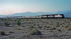 A surprise in the sand (C.P. Kirkie) Tags: amtk passengertrain california amtrak southwestchief f40ph superliner mojavedesert desert route66 trains railroads