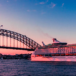 Cruising outta the harbour at dusk thumbnail