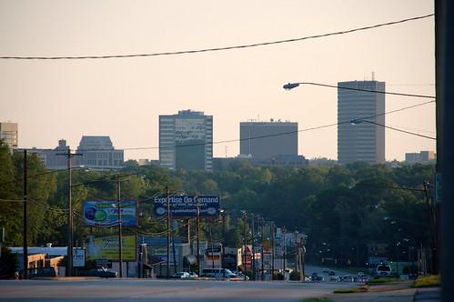 Downtown from Wade Hampton