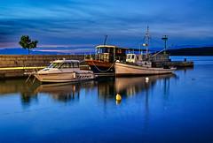 at twilight----blue hour (werner boehm *) Tags: blue harbor croatia hour kroatien blaue stunde vanagram wernerböhm