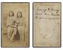 Jenny and Tansy, Two Ton-kawa squaws (SMU Central University Libraries) Tags: oklahoma gun pistol indians revolver americanindians americanindian uswest fortsill tonkawa