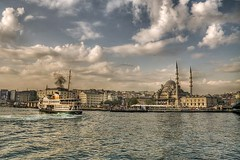 Eminn,stanbul (Nejdet Duzen) Tags: trip travel ferry turkey view trkiye istanbul mosque vapur manzara camii eminn turkei yenicamii seyahat yenimosque thebestofday gnneniyisi mygearandme