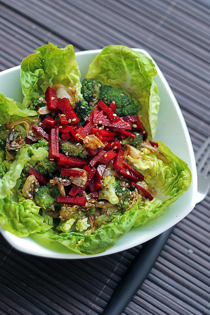 Broccoli, Beetroot and Lettuce