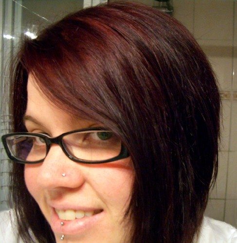 This is me last night after I dyed my hair. See that red tint?