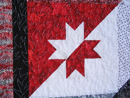 Barn Raising Stars quilting