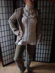 set (bigmamainge) Tags: ski wool hat weihnachten warm handmade handknit mohair angora poncho mtze shrug bommel pompom tasche ponpon handknitting wolle schal norweger schafwolle zipfelmtze pellerine schlupfmtze wintermtze thickwool