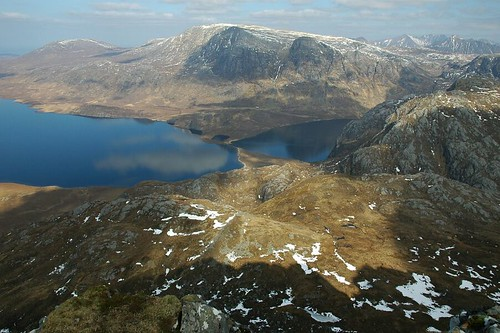 The causeway at Carnmore from Beinn Lair