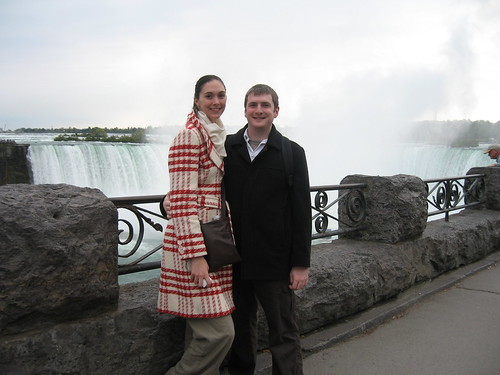 Tony and Suzy with the Canadian Horseshoe Falls behind them
