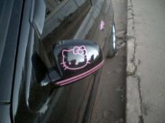 O carro da Hello Kitty - detalhe