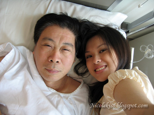 dad and me in hospital