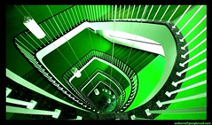 green (sediama (break)) Tags: colour green stairs hospital germany hannover treppe ill staircase grn staircases krankenhaus treppen treppenhaus 10mm fineartphotos sediama bysediamaallrightsreserved