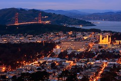 The calm before the storm (A Sutanto) Tags: sf sanfrancisco california ca city urban usa streets church night america lights bay twilight view dusk hills goldengatebridge twinpeaks usf sfbay stignatius universityofsanfrancisco mywinners abigfave platinumphoto anawesomeshot superbmasterpiece goldstaraward