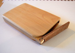 "Cedar case features a handcrafted wooden hinge • <a style=""font-size:0.8em;"" href=""http://www.flickr.com/photos/7358896@N06/2254224088/"" target=""_blank"">View on Flickr</a>"