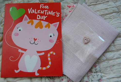 Valentine card and gift from Tanya