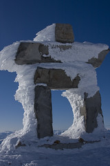 Frosted Inukshuk (somenice) Tags: winter snow canada whistler bc symbol scuplture inukshuk somenice