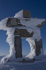 Frosted Inukshuk (somenice) Tags: winter snow canada whistler bc symbol scuplture inukshuk somenice