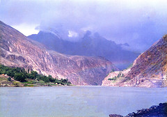 Lake and rainbow before Gupis (Noorkhan) Tags: life pakistan mountains colour nature beauty river khan areas northern nwfp mohammad noor gilgit chitral gupis karakoraam