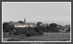 Rainbow Row (Redtanglewood) Tags: blackandwhite architecture landscape coast northumberland alnmouth northeast selectivecolour canon350 colourpopping
