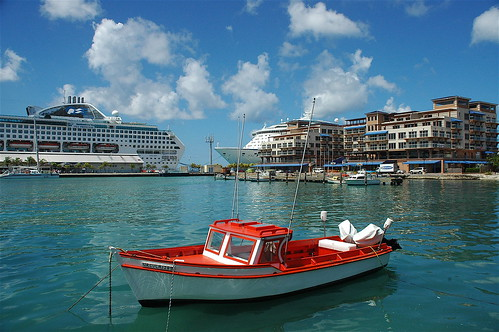 On the water in Oranjestad, Aruba ~ by **Mary**.