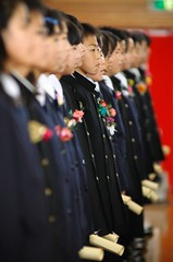 properly lined (itsathird) Tags: school japan kids chorus children uniform child singing diploma flag formal graduation ceremony elementaryschool gym elementary formality diplomas toyoumi graduationceremony rigid kujukuri schoolgrounds toyoumielementary graduationjapantoyoumielementary