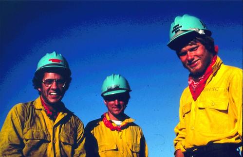 Fire Pals. Sagehen Fire. Sawtooth National Forest. Idaho. July 1981.