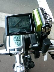 自転車付きカメラ操作