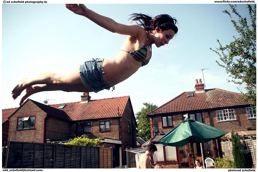 Jumping on trampoline amp masturbating - 3 8