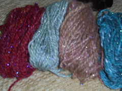 sample yarns from batts